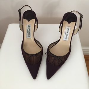 c0d307be96c9 Jimmy Choo deep purple evening shoes